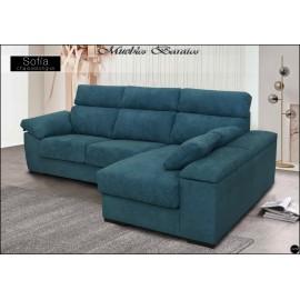 Sofa con chaiselongue alta gama en medidas 230 y 275 cms ref-01