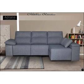 Sofa con chaiselongue alta gama en medidas 240, 260 y 295 cms ref-07