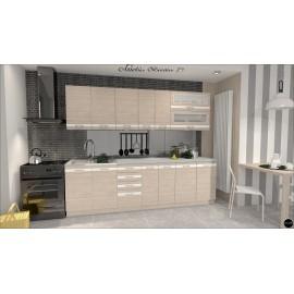 Modulos para cocinas color madera y blanco ref-07