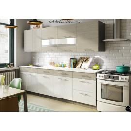 Modulos para cocinas color sonoma y blanco ref-08