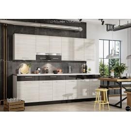 Modulos para cocinas color madera y gris grafito ref-10