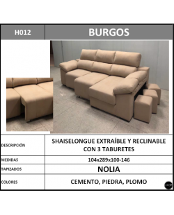 Chaiselongue en oferta ref-09 289 cms
