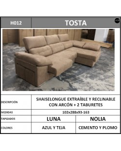 Chaiselongue en oferta ref-10 288 cms