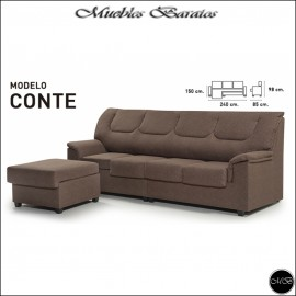 Sofa Chaiselongue 240 cms ref-18 VARIOS COLORES DISPONIBLES