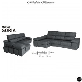 Chaiselongue en oferta ref-06 296 cms