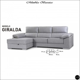 Chaiselongue en oferta ref-07 296 cms VARIOS COLORES DISPONIBLES