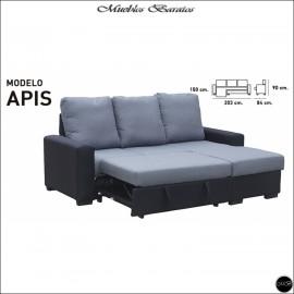 Sofa Chaiselongue cama 203 cms ref-02