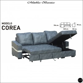 Sofa Chaiselongue cama 248 cms ref-01