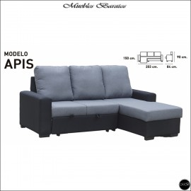 Sofa Chaiselongue cama 203 cms ref-02