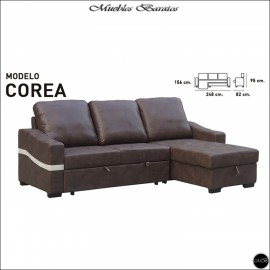 Sofa Chaiselongue cama 248 cms ref-01A
