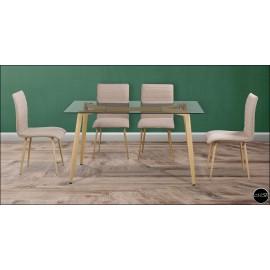 Conjunto mesa sillas ref-17