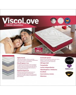 Colchon viscoelastico ideal parejas ref-28