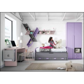Dormitorio juvenil completo COMPOSICION-101