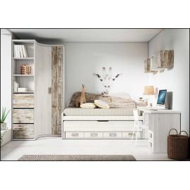 Dormitorio juvenil completo COMPOSICION-102