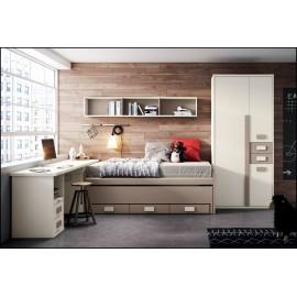 Dormitorio juvenil completo COMPOSICION-103