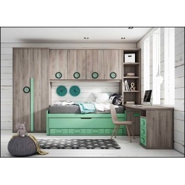 Dormitorio juvenil completo COMPOSICION-104