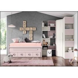 Dormitorio juvenil completo COMPOSICION-107