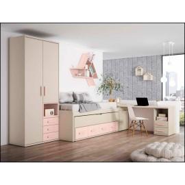 Dormitorio juvenil completo COMPOSICION-108