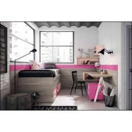 Dormitorio juvenil completo COMPOSICION-109