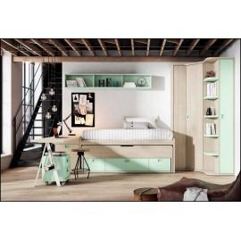 Dormitorio juvenil completo COMPOSICION-110
