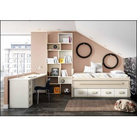 Dormitorio juvenil completo COMPOSICION-111