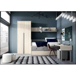 Dormitorio juvenil completo COMPOSICION-113