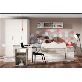 Dormitorio juvenil completo COMPOSICION-114