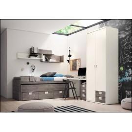 Dormitorio juvenil completo COMPOSICION-115
