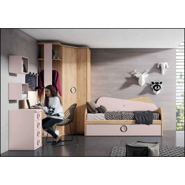 Dormitorio juvenil completo COMPOSICION-201
