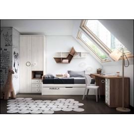 Dormitorio juvenil completo COMPOSICION-202