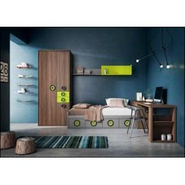 Dormitorio juvenil completo COMPOSICION-203
