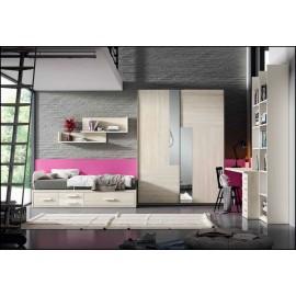 Dormitorio juvenil completo COMPOSICION-204