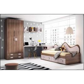 Dormitorio juvenil completo COMPOSICION-205