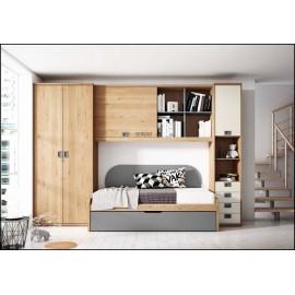 Dormitorio juvenil completo COMPOSICION-206