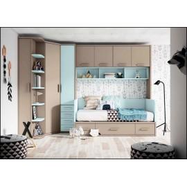 Dormitorio juvenil completo COMPOSICION-207
