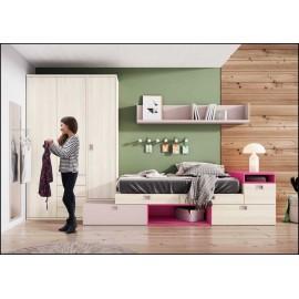 Dormitorio juvenil completo COMPOSICION-301