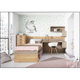 Dormitorio juvenil completo COMPOSICION-305