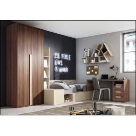 Dormitorio juvenil completo COMPOSICION-306