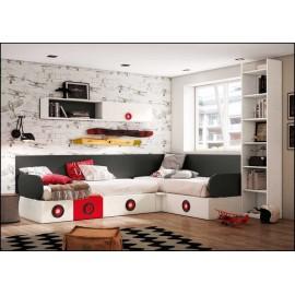 Dormitorio juvenil completo COMPOSICION-308