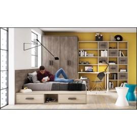 Dormitorio juvenil completo COMPOSICION-317