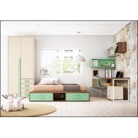 Dormitorio juvenil completo COMPOSICION-318