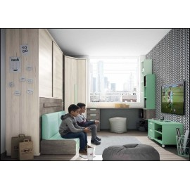 Dormitorio juvenil completo COMPOSICION-401
