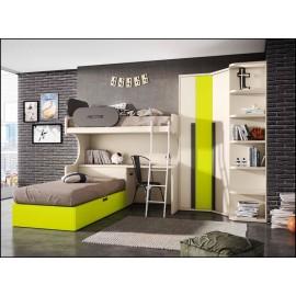 Dormitorio juvenil completo COMPOSICION-502