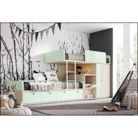 Dormitorio juvenil completo COMPOSICION-504