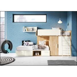 Dormitorio juvenil completo COMPOSICION-505