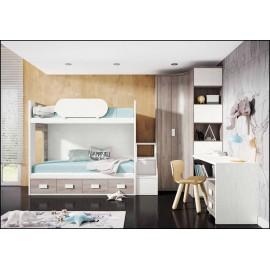 Dormitorio juvenil completo COMPOSICION-506