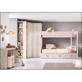 Dormitorio juvenil completo COMPOSICION-507