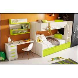 Dormitorio juvenil completo COMPOSICION-508