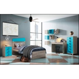 Dormitorio juvenil completo COMPOSICION-604