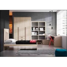 Dormitorio juvenil completo COMPOSICION-605